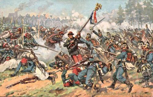 Wörth 6. August 1870, Eroberung eines franz. Adlers durch das 2. bayer. Infanterie-Regiement