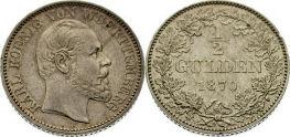 1/2 Gulden, Württemberg 1870