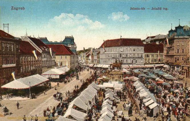 Agram (Zagreb), Jelačić trg. (Jellachichplatz)