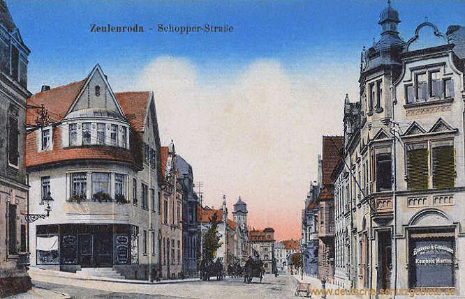 Zeulenroda , Schopper-Straße