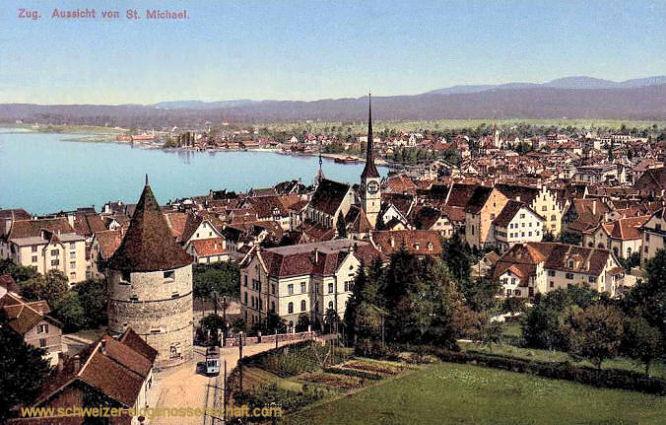 Zug, Aussicht von St. Michael