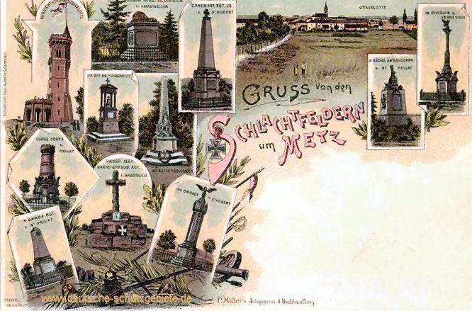 Gruss von den Schlachtfeldern um Metz
