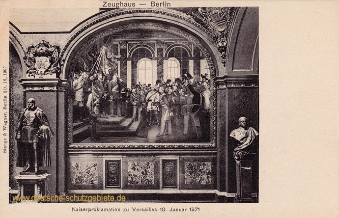 Kaiserproklamation zu Versailles am 18. Januar 1871