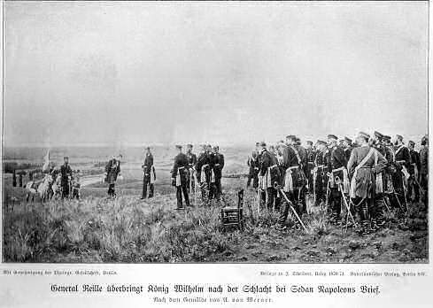 General Reille überbringt König Wilhelm nach der Schlacht bei Sedan Napoleons Brief