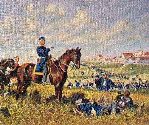 General von Steinmetz in der Schlacht bei Skalitz am 28. Juni 1866
