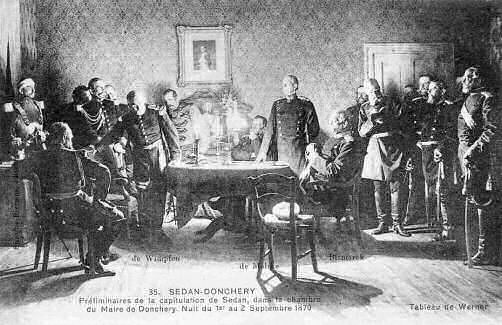 Sedan-Donchery - Wimpffen, Moltke und Bismarck