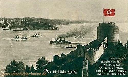 Der türkische Krieg. Russland eröffnet die Feindseligkeiten. Die Türkische Flotte vernichtete und beschädigte mehrere russischen Schiffe.