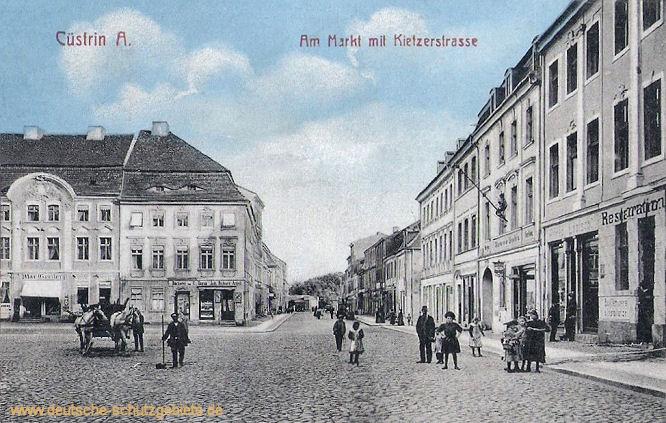 Küstrin Altstadt, Am Markt mit Kietzerstraße