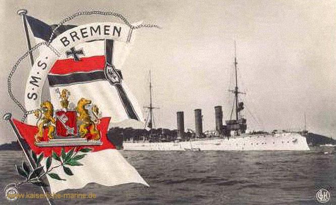S.M.S. Bremen, Kleiner Kreuzer
