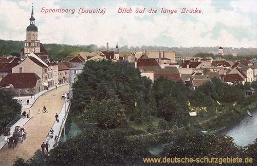 Spremberg, Blick auf die lange Brücke