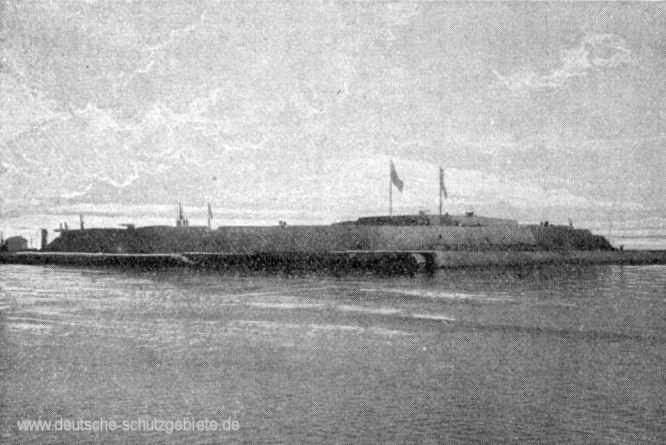 Die Takuforts von See aus gesehen, 1900