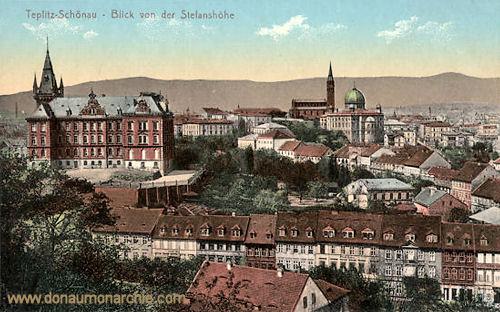 Teplitz-Schönau, Blick von der Stefanshöhe
