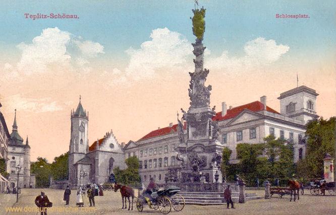 Teplitz-Schönau, Schlossplatz