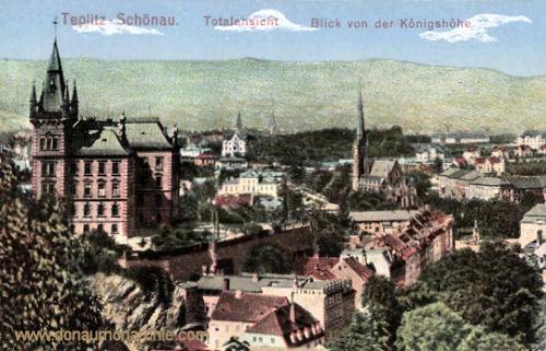 Teplitz-Schönau, Totalansicht, Blick von der Königshöhe