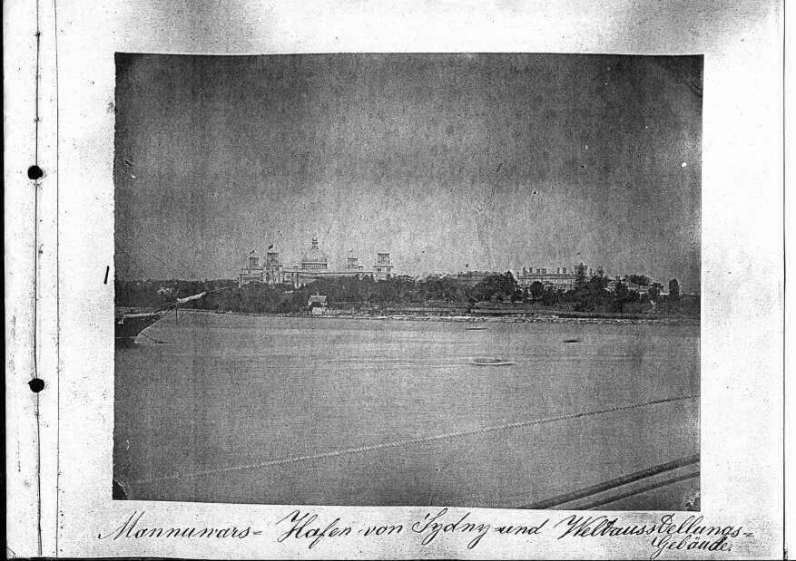 Mannuwars - Hafen von Sydney und Weltausstellungs-Gebäude
