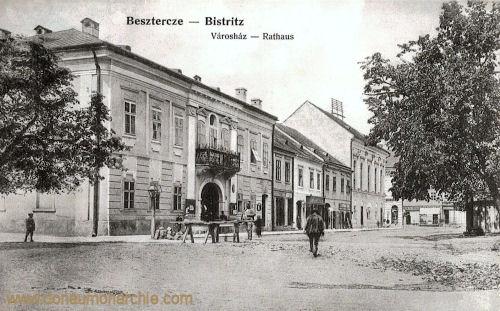Bistritz - Besztercze, Városháza - Rathaus