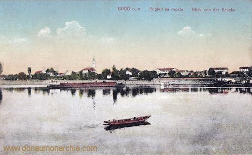Brod an der Save, Blick von der Brücke
