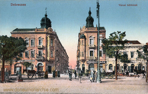 Debreczen, Városi bérházak (Städtische Mietshäuser)