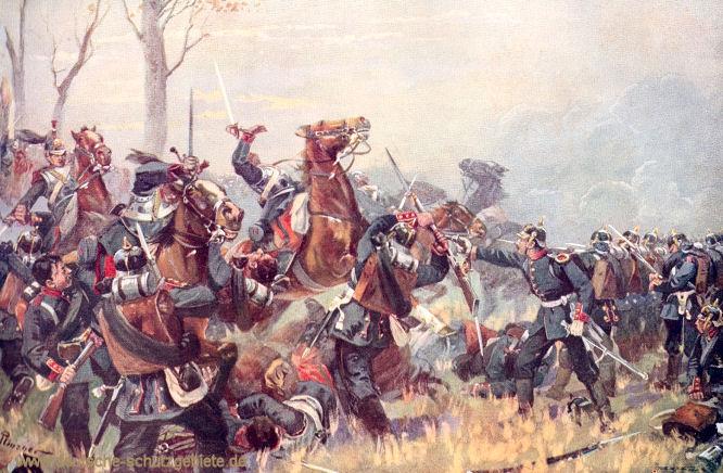 Durchbruchsversuch französischer Kürassiere in den Kämpfen bei Wörth