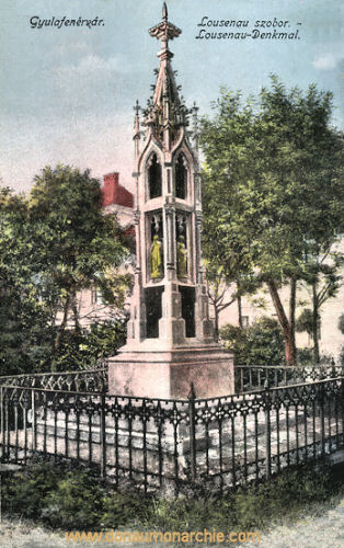 Karlsburg (Gyulafehérvár), Lousenau-Denkmal