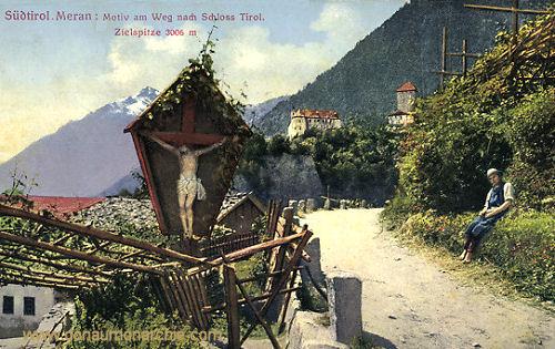 Meran, Weg zum Schloss Tirol