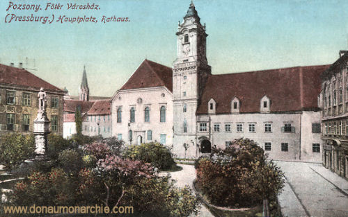 Pressburg (Pozsony, Bratislava), Hauptplatz, Rathaus