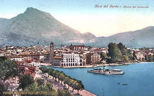 Riva, Gardasee - Arrivo del Piroscato