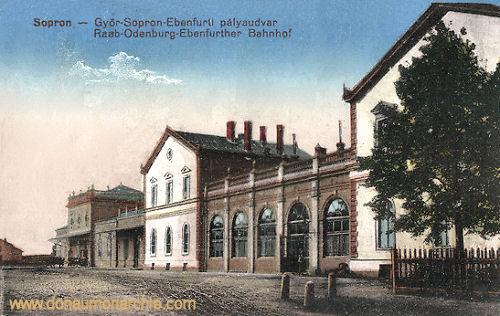 Ödenburg (Sopron), Raab-Sopron-Ebenfurth Bahnhof