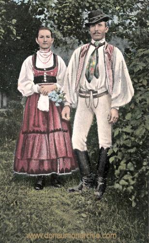Szekler Paar, Siebenbürger Trachten