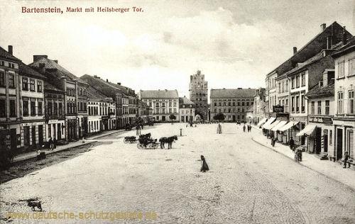 Bartenstein Opr., Markt mit Heilsberger Tor