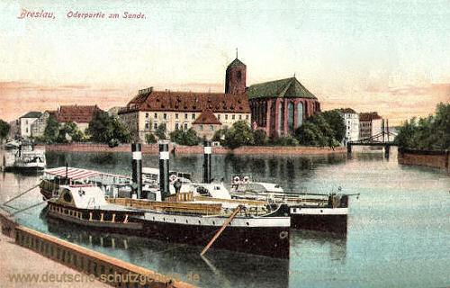 Breslau, Oderpartie am Sande