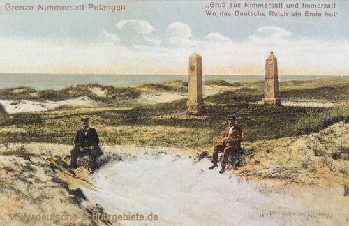 Deutsch-Russische Grenze Nimmersatt-Polangen Gruß aus Nimmersatt und Immersatt - Wo das Deutsche Reich ein Ende hat!