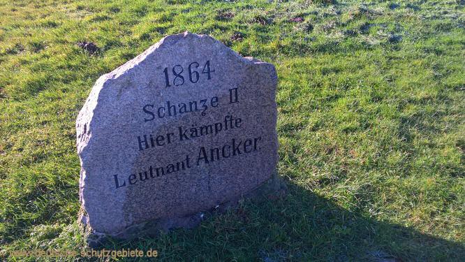 1864, Schanze II. Hier kämpfte Leutnant Ancker
