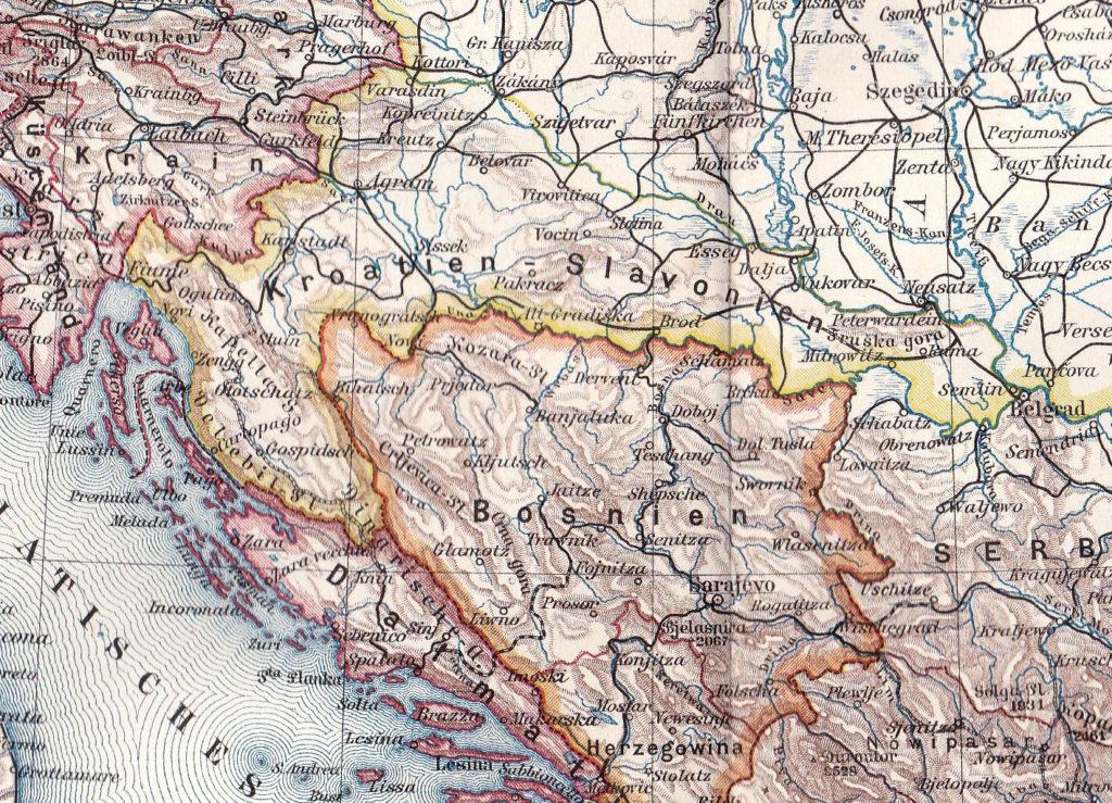 Fiume und das Königreich Kroatien-Slawonien, Karte 1900