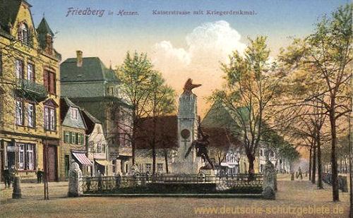 Friedberg in Hessen, Kaiserstraße mit Kriegerdenkmal