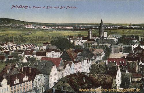 Friedberg in Hessen mit Blick auf Bad Nauheim