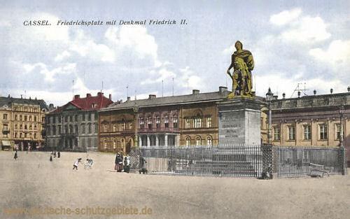 Kassel, Friedrichsplatz mit Denkmal Friedrich II.