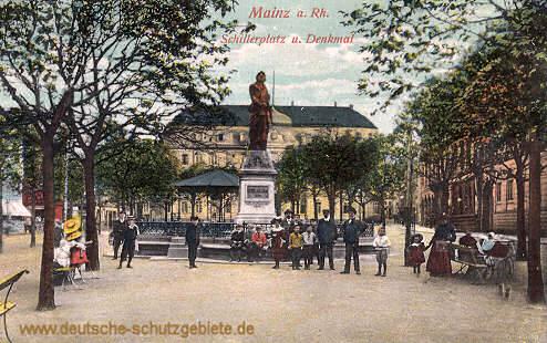 Mainz, Schillerplatz und Denkmal