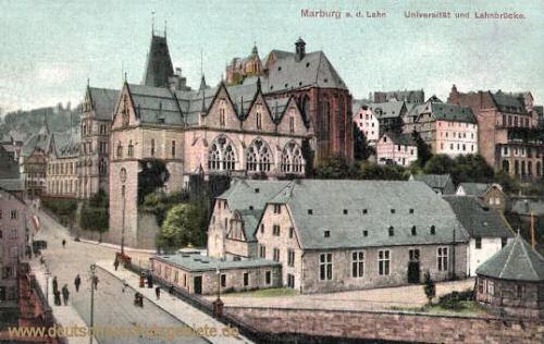 Marburg a. d. Lahn, Universität und Lahnbrücke