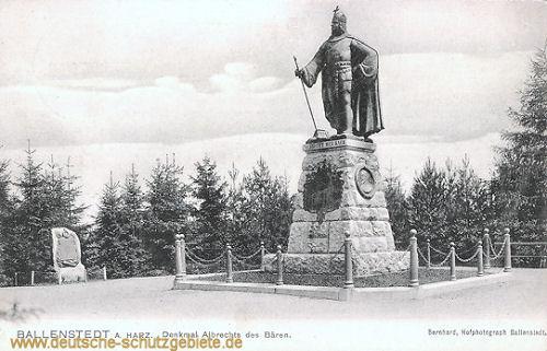 Ballenstedt, Denkmal Albrechts des Bären