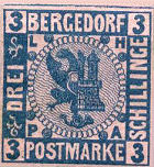 Bergedorf Postmarke, 3 Schillinge
