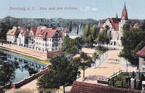Bernburg, Blick nach dem Kurhaus