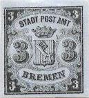 Bremen, 3 Grote, 1855