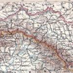 Galizien und Bukowina, Detailkarte um 1900