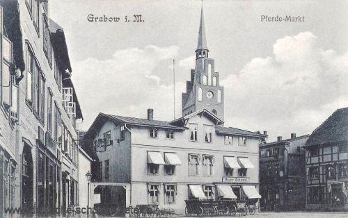 Grabow i. M., Pferde-Markt