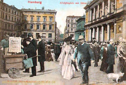 Hamburg, Adolphsplatz mit Börse