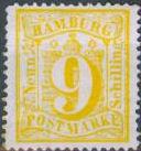 9 Schilling, Hamburg Briefmarke 1864