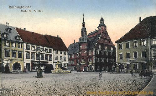 Hildburghausen, Markt mit Rathaus