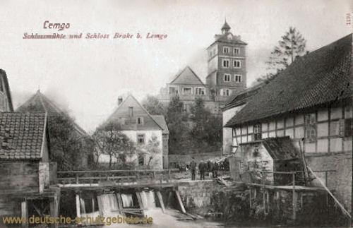 Lemgo, Schlossmühle und Schloss Brake b. Lemgo