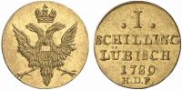 Lübeck, 1 Schilling, 1789